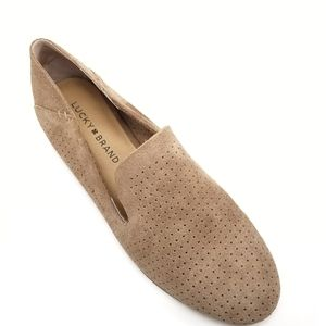 NEW Lucky Brand Caldyn Perforated Suede Loafer